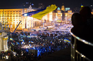 Demonstration des Euromaidan in Kiew im November 2013